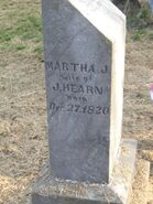 Martha J (Ellis) Hearn (Hearn Cemetery IL)