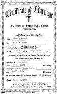 Burke Norton 1919 marriage
