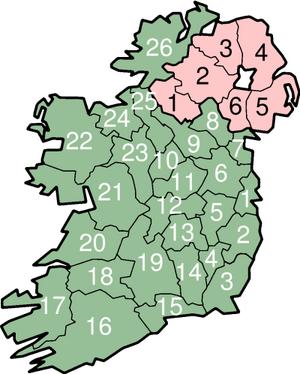 Counties of Ireland.