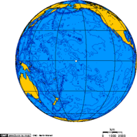 Orthographic projection over Jarvis Island