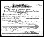 Fred Klein and Catherine Glatt Marriage Licence