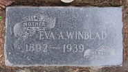 Eva Ariel Lattin Winblad tombstone