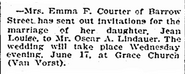 Lindauer-Courter 1903 wedding