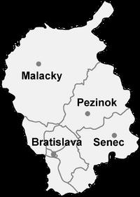 Districts of Bratislava Region