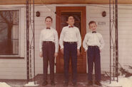 Borlands at the Tripp home in Leesville, Ohio in 1959
