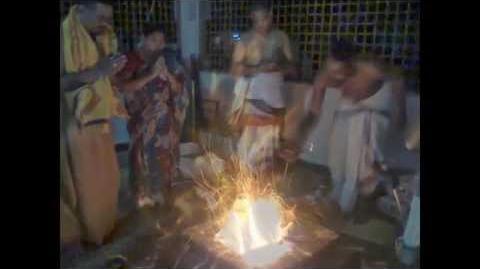 Garlavoddu Lakshmi Narasimha Swamy Miracles , where lord appeared as Ghandabherunda and Naga Raja