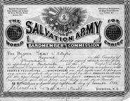 1923 - Edward William Burgess Baglin Bandmember's Commission