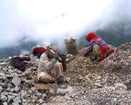 Road workers crushing rocks, Kullu, 2004