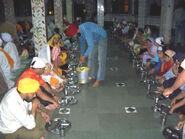 Diners at Sikh Gurdwara, Manikaran