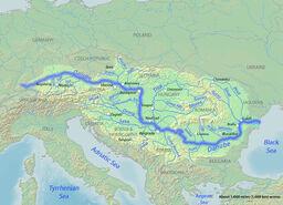 Map of Danube River
