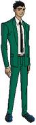 Rex con el traje de seis