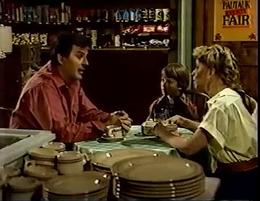Alan, Jonah, and Charity at Gatlin's in Pautauk (1986) .png