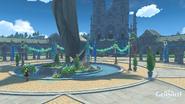 Площадь Мондштадта во время Праздника ветряных цветов