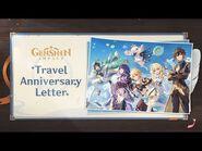 Teyvat Adventures Commemorative Video- Travel Anniversary Letter - Genshin Impact