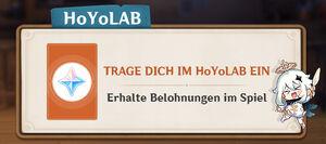 HoYoLAB tägliche Eintragung