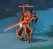 Enemy Ochimusha Cankered Flame - Blocking