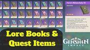 Genshin Impact Hidden Lore Books (also Quest Items & Rewards Guide)