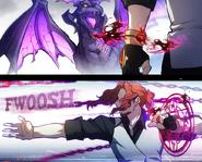 Manga C7P2 Crepus Fights Ursa the Drake