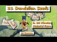 31 Dandelion Seeds in 10 minutes +10 Summon