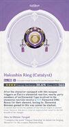 Weapon Card Hakushin Ring