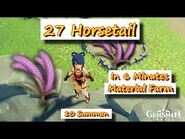 27 Horsetail in 6 Minutes Material Farm +10 Summon