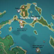 Pirates's diary Locations