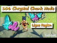 Genshin Impact - 106 Crystal Chunk In 35 Minutes, Liyue Region