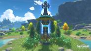 Statue of the Seven - Starfell Lake - Windblume