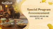 Version 2.1 Special Program Announcement