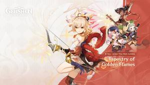 Splashscreen Tapestry of Golden Flames
