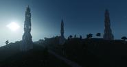 Башенные холмы ночью