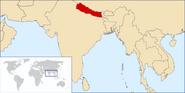 Położenie Nepalu