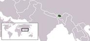 Bhutan - położenie