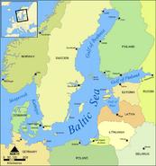 Morze Bałtyckie - mapa