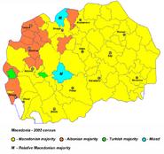 Mapa etniczna Macedonii