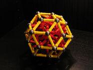 Rhombic triacontahedron near miss b