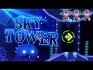 """""""Sky Tower"""" (Demon) by Rafer -All Coins- - Geometry Dash 2"""