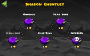 Shadow Gauntlet levels