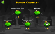 Poison Gauntlet levels