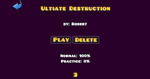 Ultimate Destruction Title Screen Remake