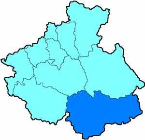 Кош-Агачский район на карте