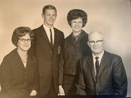 Tillie Dybing and family