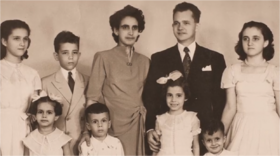 Maria da Encarnacao with her family