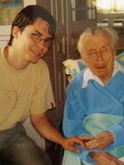 Buzáky Lajosné at age 109 (11. 09. 2007.)