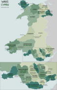 Wales Administrative Map 2009