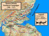 Römische Invasion von Caledonien