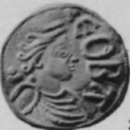 Cynethryth penny obverse