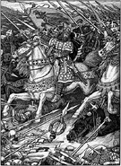 Arthur Leading the Charge at Mount Badon