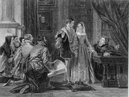 Crown Offered to Lady Jane Grey