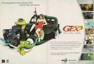 Gex 3 Playstaion Magazine Advertising poster